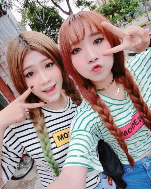 Cả hai đều xinh xắn như những cô nàng hot girlHàn Quốc.(Ảnh Internet)