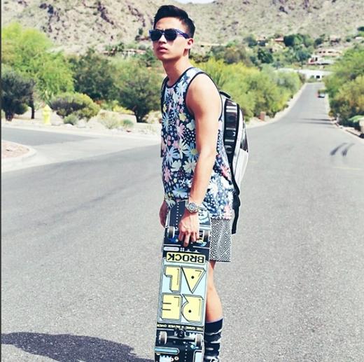 Anh chàng Việt kiều hiện thu hút hơn 11.000 người theo dõi trên trang Instagram cực chất của mình. (Ảnh: Internet)