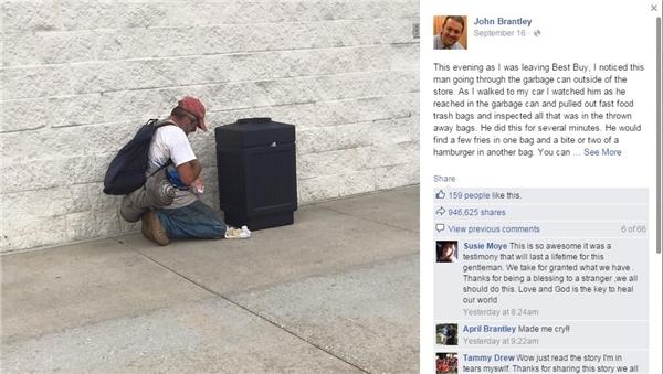 Câu chuyện nhận được hơn 900.000 lượt chia sẻ trên mạng xã hội. (Ảnh chụp màn hình)