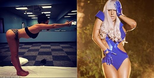 Không phải ai cũng có thể nhảy múa suốt ngày trong những bộ quần áo bó sát như Lady Gaga. Cô nàng được biết đến là một trong những ngôi sao rất đam mê yoga, nữ ca sĩ có thể giữ một tư thế yoga cực khó trong căn phòng với nhiệt độ cao trong khoảng thời gian khá lâu.