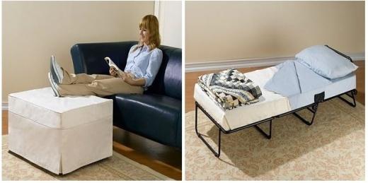 """Dụng cụ có thể """"biến hình"""" thành chiếc bàn, đồ gác chân hay một chiếc giường đơn trong nháy mắt.(Ảnh Internet)"""