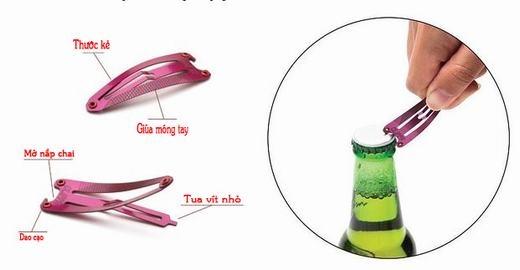 Không đơn giản chỉ là một chiếc kẹp tóc dành cho phái nữ, nó còn là dũa móng tay, thước kẻ, tua-vít hay thậm chí là dụng cụ mở nắp chai.(Ảnh Internet)