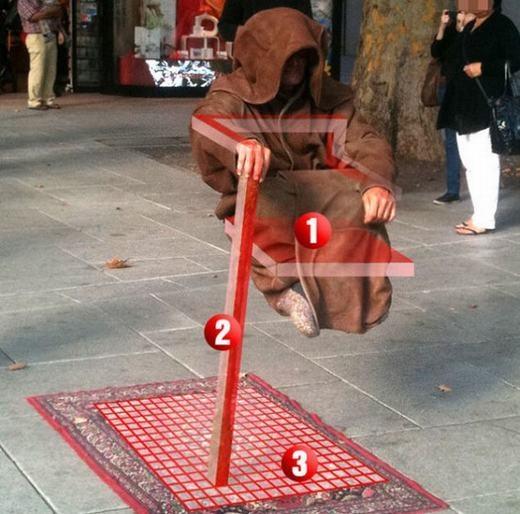 ... thực chất chỉ là tài đánh lừa của những ảo thuật gia đường phố. (Ảnh: Internet)