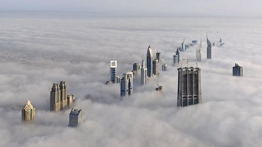 Những tòa nhà chọc trờicòn cao hơn cả mây. (Ảnh: Internet)