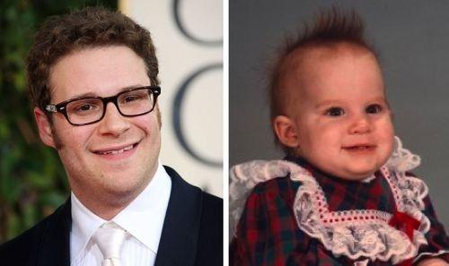 Khuôn mặt bầu bĩnh và nụ nười đáng yêu của em bé này khiến mọi người liên tưởng đến nam diễn viên Seth Rogan.