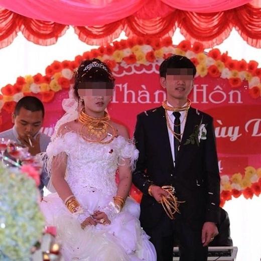 Đám cưới vàng từng gây xôn xao phố núi Hà Tĩnh.(Nguồn: Internet)