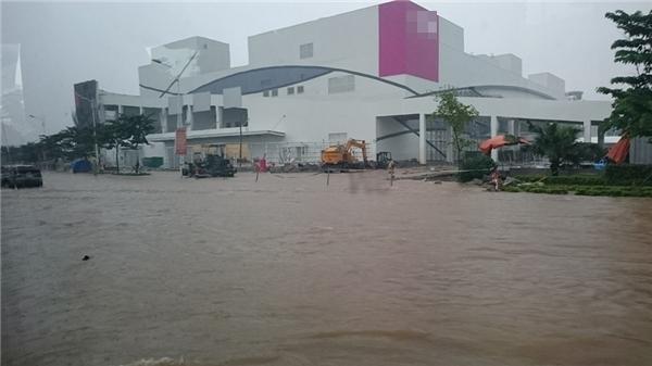 Biển nước tại Hà Nội vào sáng nay. (Ảnh: FB)