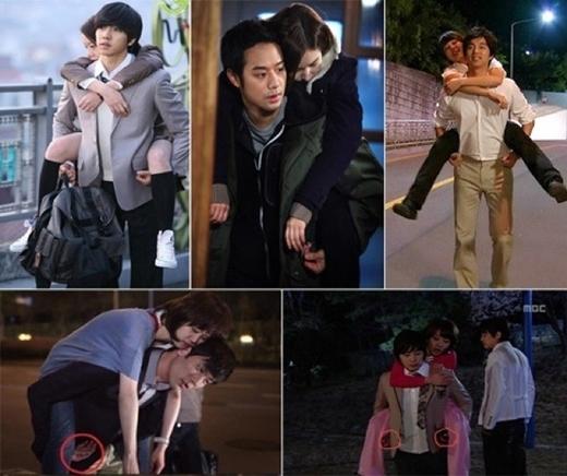 Hầu hết các cảnh cõng trong phim Hàn Quốc, nam chính luôn giữ cho bàn tay ở mức an toàn nhất, thể hiện sự tôn trọng cũng như trân trọng đối với bạn diễn nữ.