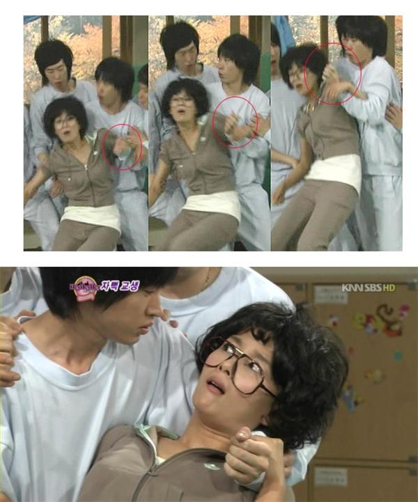 Dù trong tình huống bất ngờ nhưng Tablo (Epik High) vẫn không quên thể hiện sự thanh lịch đối với đàn chị.