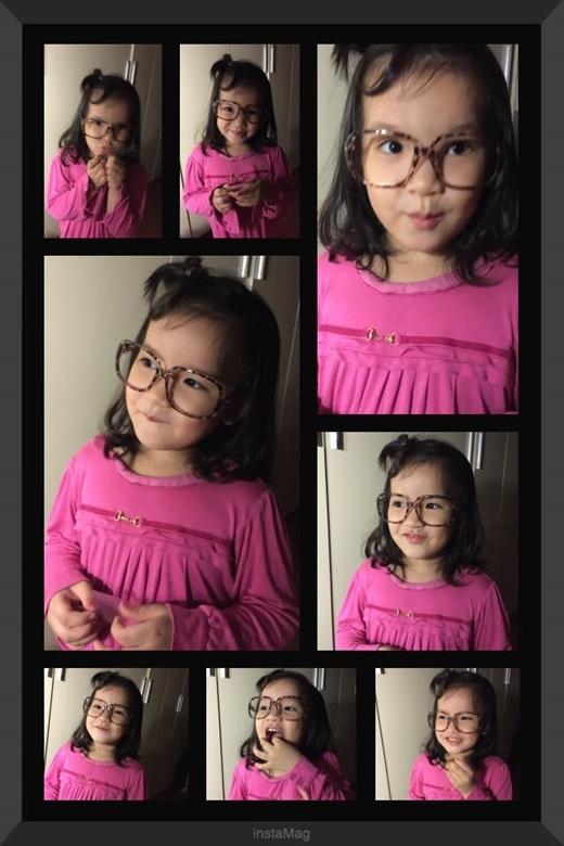 Cận cảnh cô con gái đáng yêu của Mi Vân. (Ảnh : Internet )