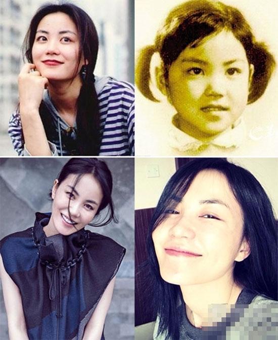 Vương Phi thu hút ánh nhìn người khácvới nét đẹp cá tính tươi trẻ ngày nhỏ. Đến giờ khi đã U50, cô vẫn trẻ trung như ngoài 30.