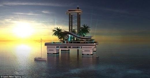 Trên đảo có cả bãi đáp trực thăng và bến cảng mini.
