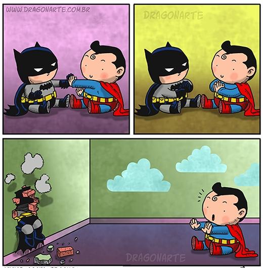 Bé Superman chơi kì quá! (Ảnh: Dragonate)
