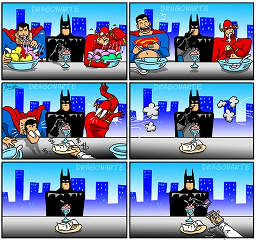 """Cũng phải thôi vì nhà của Batman """"có điều kiện"""" nhất mà! (Ảnh:Dragonate)"""