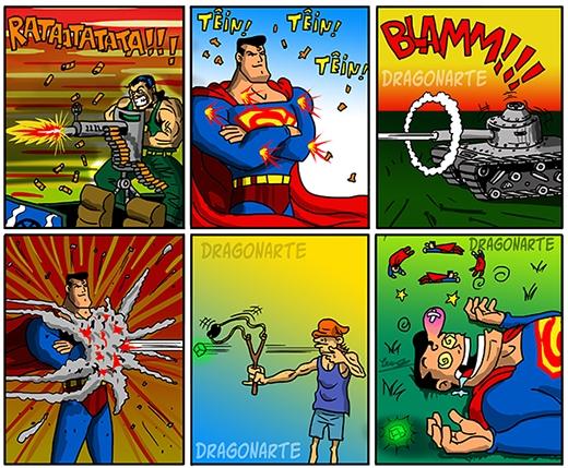 """Superman không """"ngán"""" thứ gì, trừ... (Ảnh:Dragonate)"""