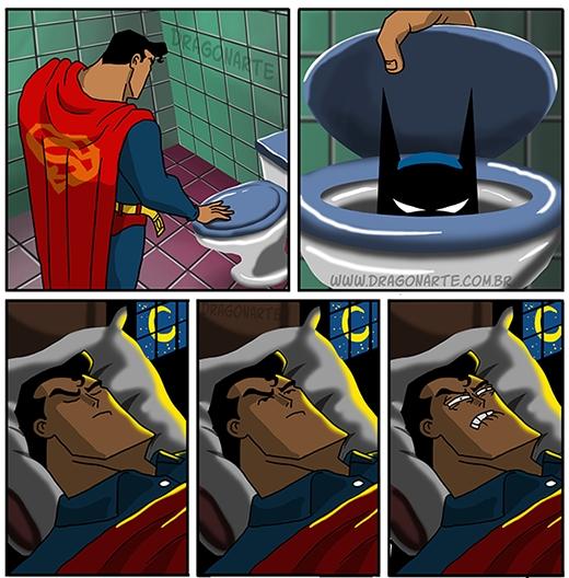 """Những """"bộ phim kinh dị"""" mà Batman là diễn viên chính, khiến Superman không thể ngủ nổi! (Ảnh:Dragonate)"""
