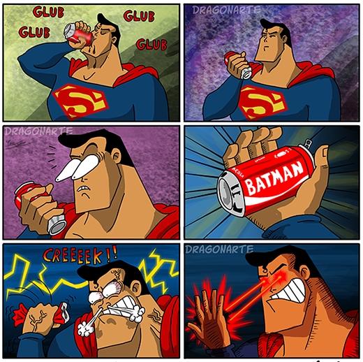 """""""Lại quảng cáo cho thằng Batman sao? Thật là bực bội!"""" (Ảnh: Dragonate)"""