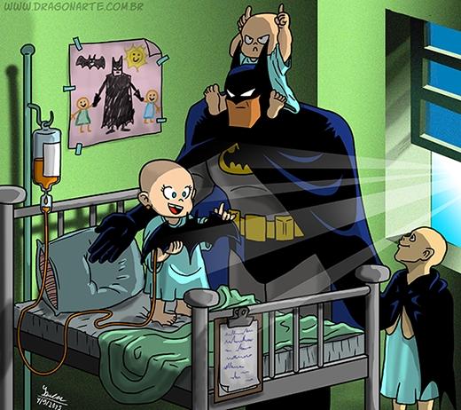 Khi Batman trở thành ông bố đảm đang. (Ảnh: Dragonate)