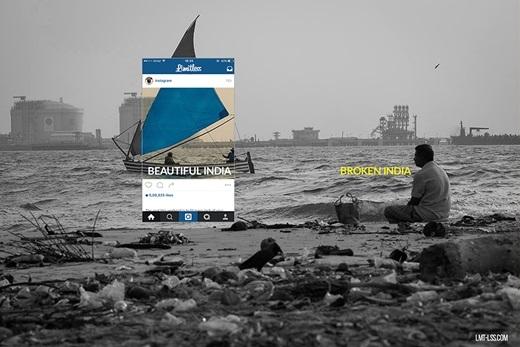 Nhữngbãi cát đầy rác là một cảnh thường thấy ở Ấn Độ. (Nguồn: Limitless)