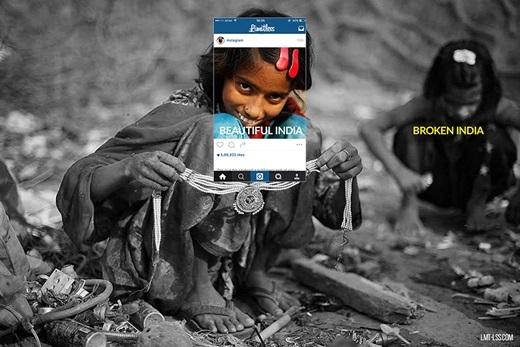 Nụ cười của cô gái nhỏ này thật đẹp nhưng trở nên đầy ám ảnh sau khi phần còn lại của bức ảnh được phơi bày.(Nguồn: Limitless)