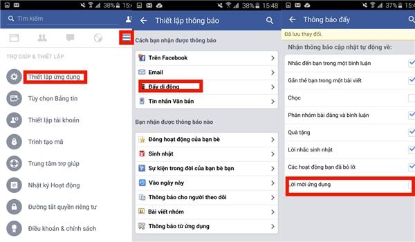 Cách chặn lời mời chơi game trên facebook.