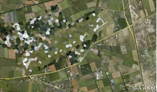 Trong số đó, căn cứ không quân Volkel cũng bị che khuất. Nơi đây được cho là có rất nhiều bom nguyên tử, khoảng 22 quả. (Ảnh chụp màn hình)