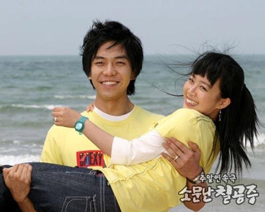 Shin Ji Soo và Lee Seung Gi trong phim Những nàng công chúa nổi tiếng.