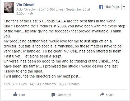 Fan tiếc nuối vì Fast and Furious đi đến hồi kết