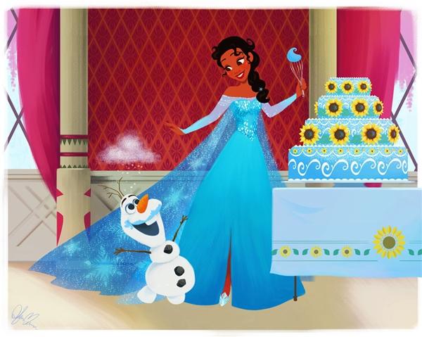 Olaf chắc hẳn sẽ nghiện những món ăn mà cô nàng làm ra.