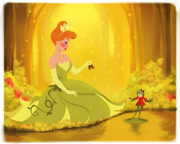 Công chúa đã từng làm bạn với chim, chuột và ngựa, thế nên không có gì là quá ngạc nhiên nếu như nàng phải lòng một chú ếch đúng không?