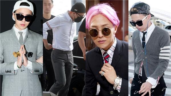 """Thương hiệu Thom Browne cũng chọn G-Dragon làm người mẫu """"thường trực"""" cho những bộ sưu tập vào mỗi mùa khác nhau."""