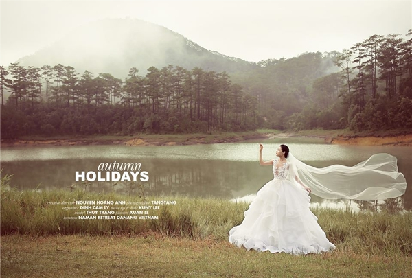 Khung cảnh thiên nhiên thơ mộng của thành phố hoa Đà Lạt càng giúp các khung ảnh trở nên lãng mạn, ngọt ngào hơn.