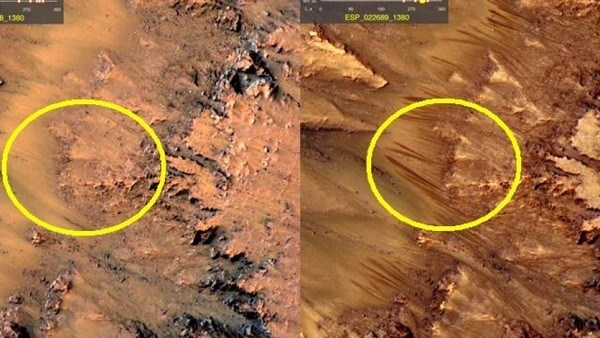 Vết tích cho thấy dòng nước tồn tại trên Sao Hỏa.