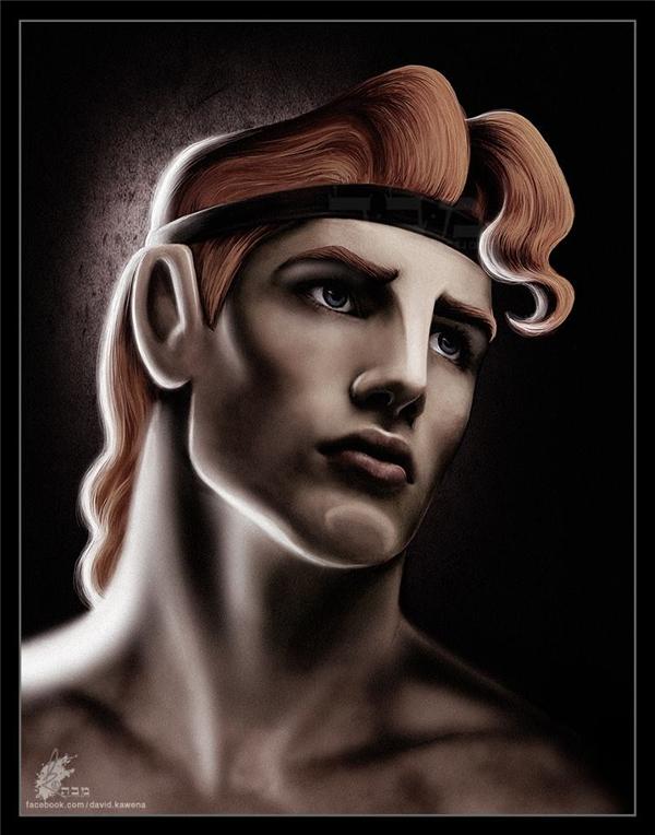 Á thần Hercules với vẻ đẹp nam tính,góc cạnh khiến cả người phàm lẫn thần tiên phải say mê.