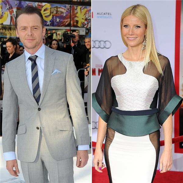 Nam diễn viên người Anh Simon Pegg chính là cha đỡ đầu cho cô con gái 9 tuổi – Apple của cặp đôi Gwyneth Paltrow và Chris Martin.