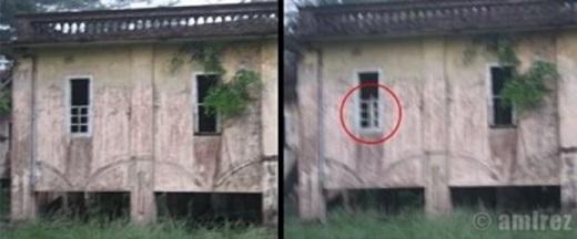 Hình ảnh chụp lại một cái bóng bí ẩn bên trong tòa nhà.(Nguồn: Internet)