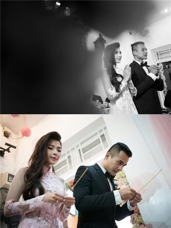 Cặp đôi tiến hành những nghi lễ truyền thống trong ngày trọng đại của mình. - Tin sao Viet - Tin tuc sao Viet - Scandal sao Viet - Tin tuc cua Sao - Tin cua Sao