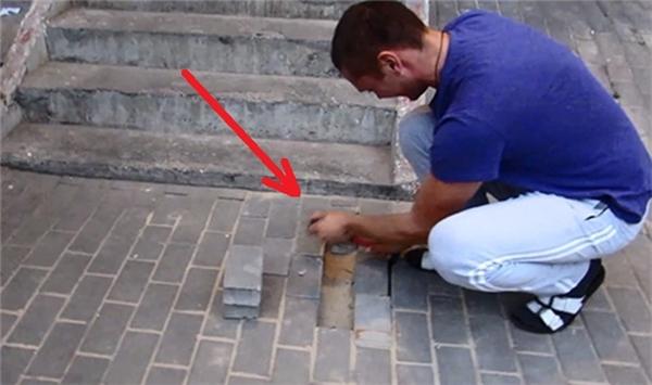 Cảm động người đàn ông đào vỉa hè để... cứu chó bị chôn