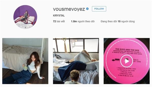 """Krystal (f(x)) từ lâu đã gây ấn tượng và được yêu thích nhờ vẻ ngoài """"sang chảnh"""" cùng khí chất không phải ai cũng có. Cô nàng chỉ mất 53 ngày để """"mê hoặc"""" được 1 triệu người theo dõi trên Instagram."""