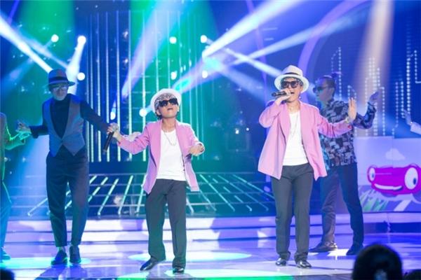 Minh Khang - Lan Phương hóa thân thành Bruno Mars với tiết mục Uptown Funk - Tin sao Viet - Tin tuc sao Viet - Scandal sao Viet - Tin tuc cua Sao - Tin cua Sao