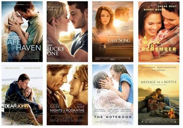 Những bộ phim chuyển thể từ tác phẩm của Nicholas Spark sẽ khiến bạn... trào nước mắt. Thử đi! (Ảnh: Internet)