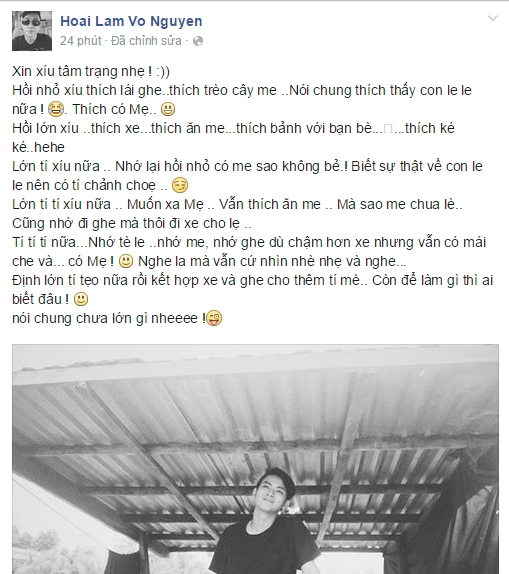 Hoài Lâm chia sẻ về những kỉ niệm tuổi thơ một cách hài hước. - Tin sao Viet - Tin tuc sao Viet - Scandal sao Viet - Tin tuc cua Sao - Tin cua Sao