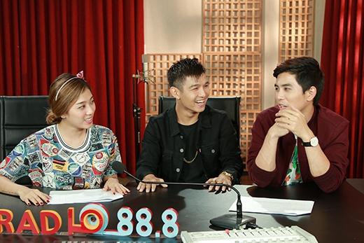 Cả 3 đã có những chia sẻ và thử thách nhau trong chương trình.