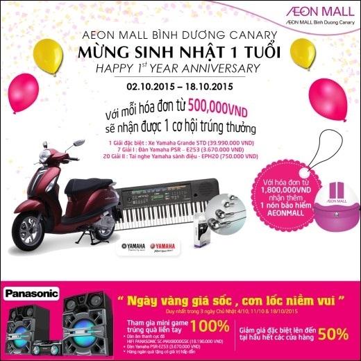 Hé lộ dàn sao khủng đến Bình Dương trong tháng sinh nhật AEON Mall