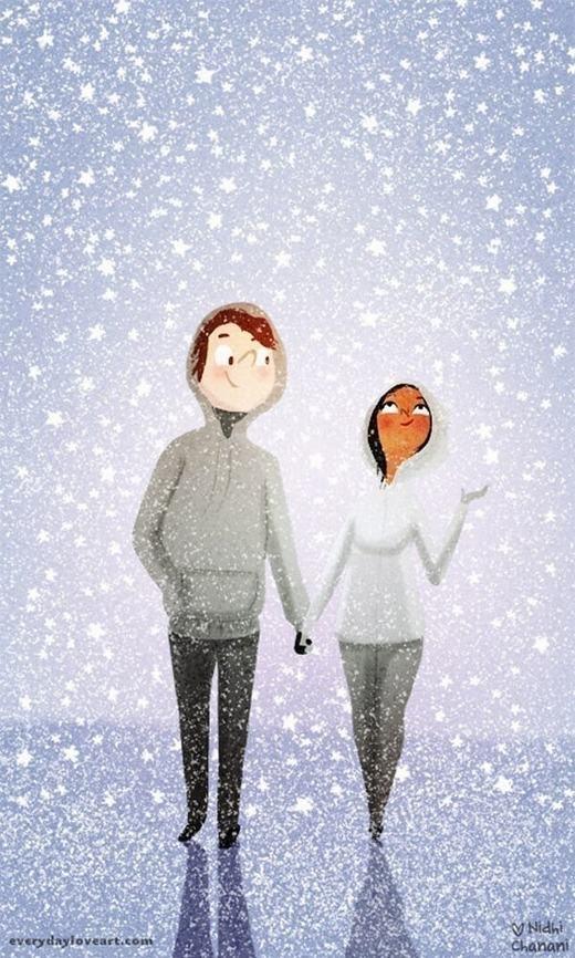 Bầu trời dù lạnh lẽo như thế nào nữa vẫn luôn có một bàn tay ấm áp bên cạnh, vậy là đủ.(Nguồn: Internet)