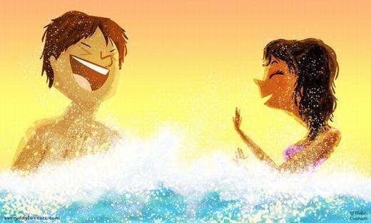 Cùng tạo nên kỉ niệm tình yêu đẹp nơi biển xanh, nắng vàng... (Nguồn: Internet)