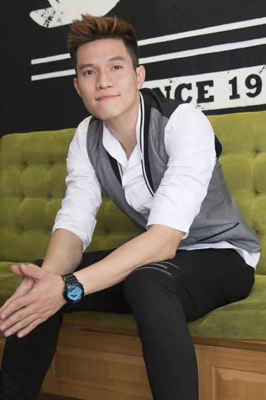 Phong cách nam tínhcủa Minh Anh ngoài đời.