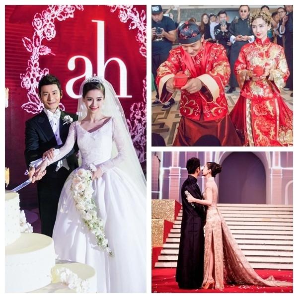 Choáng với gia sản khổng lồ của Huỳnh Hiểu Minh và AngelaBaby
