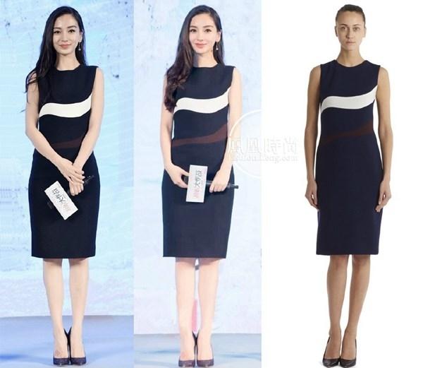 Mẫu váy liền thân với họa tiết đen trắng và nâu bắt mắt trong BST Thu Đông 2015 của Dior.