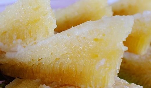Vị thơm của cơm rượu, béo của nước dừa, kết hợp với vị ngọt đậm đà của đường thốt nốt tạo nên hương vị đặc trưng mà khó cưỡng vô cùng. (Nguồn: Internet)